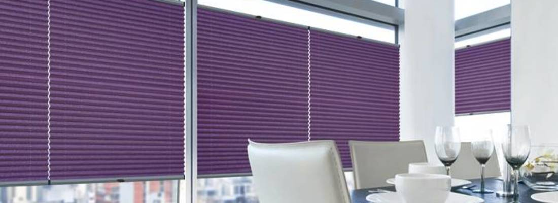 Pleated blinds - an idea to cover your window