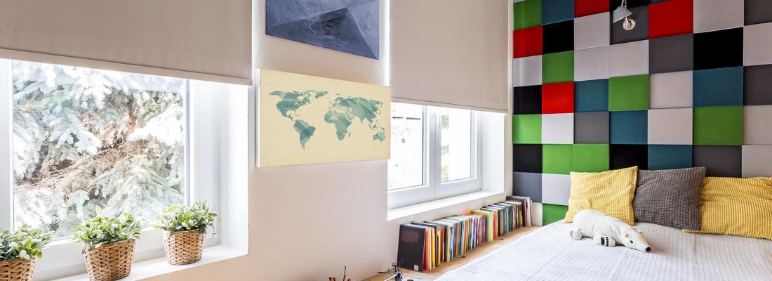 Stylish fabric blinds