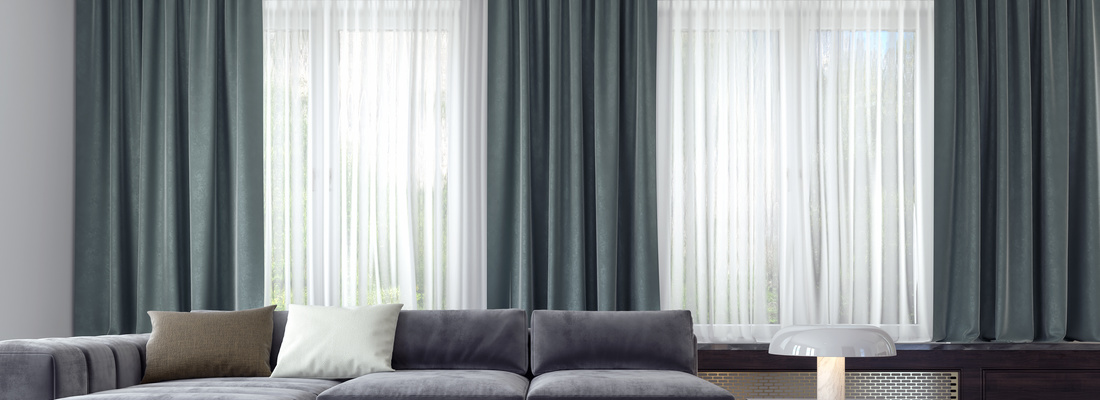 Modern and elegant electric curtain rails