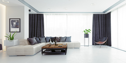 Curtains - protection of modern interiors from the sun