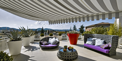 Terrace awnings - a way to get hot