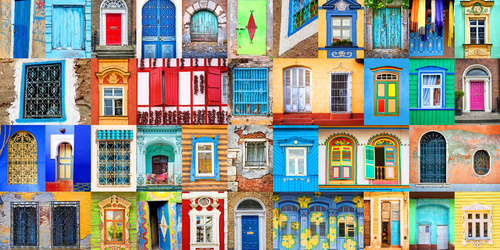 The colors of the window coverings