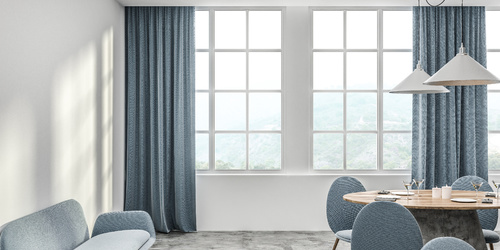 Elegant curtains in interior arrangements