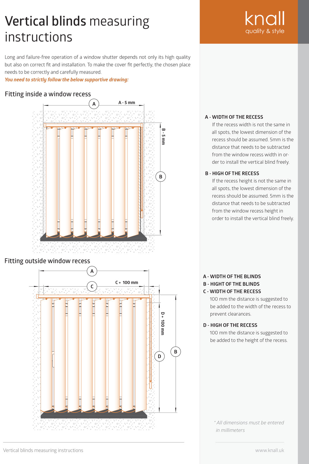 Measuring Vertical Blinds