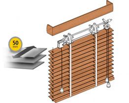 Wooden venetian blinds 50 mm