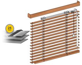 Wooden venetian blinds 25 mm
