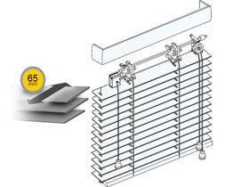 Wooden blinds 65 mm