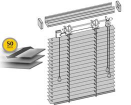Aluminum venetian blinds 50 mm