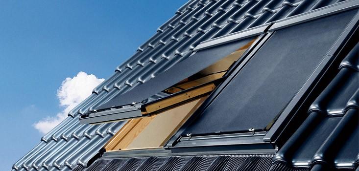 External awning velux msl solar for Velux solar blind battery